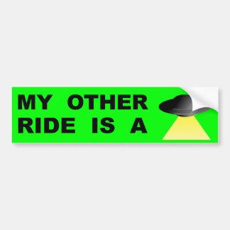 Adesivo Para Carro Meu outro passeio é um UFO