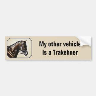 Adesivo Para Carro Meu outro veículo é um cavalo de Trakehner