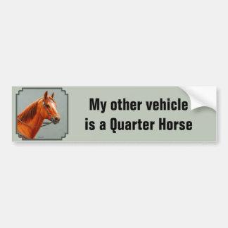 Adesivo Para Carro Meu outro veículo é um cavalo vermelho do quarto