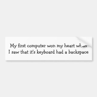 Adesivo Para Carro Meu primeiro computador ganhou meu coração…