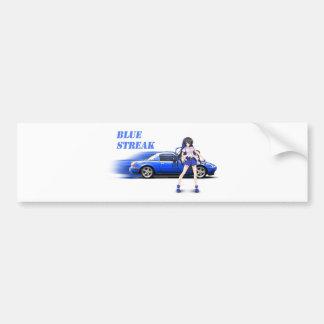 Adesivo Para Carro Miata azul - com menina do anime