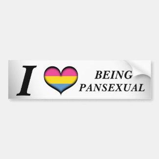 Adesivo Para Carro Mim coração que é Pansexual
