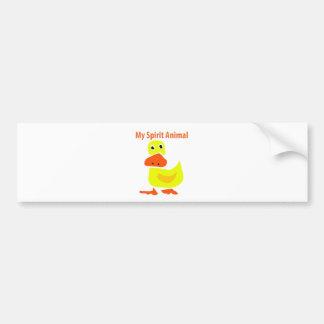 Adesivo Para Carro Minha arte amarela animal do pato do espírito