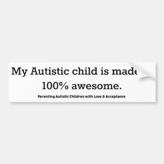 Adesivo Para Carro Minha criança autística é feita de 100%
