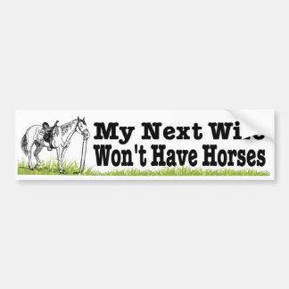 Adesivo Para Carro Minha esposa seguinte não terá cavalos. equestrian