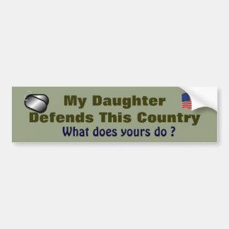 Adesivo Para Carro Minha filha defende este país