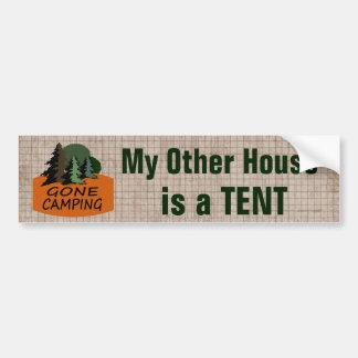 Adesivo Para Carro Minha outra casa é um acampamento engraçado da