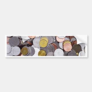Adesivo Para Carro Moedas romenas da moeda