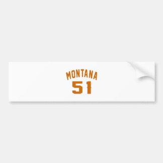 Adesivo Para Carro Montana 51 designs do aniversário
