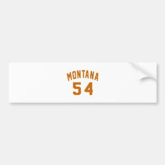 Adesivo Para Carro Montana 54 designs do aniversário