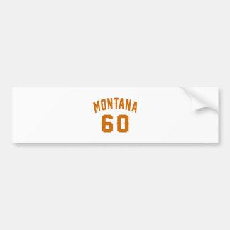 Adesivo Para Carro Montana 60 designs do aniversário