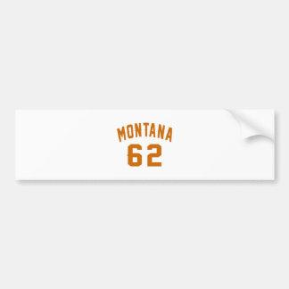 Adesivo Para Carro Montana 62 designs do aniversário