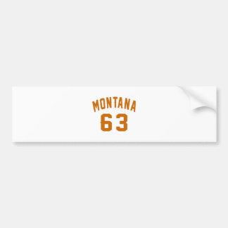 Adesivo Para Carro Montana 63 designs do aniversário