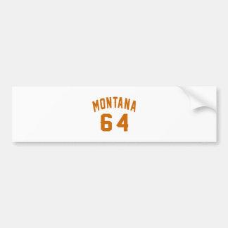 Adesivo Para Carro Montana 64 designs do aniversário