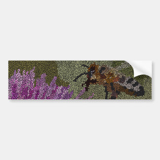 Adesivo Para Carro Mosaico da abelha