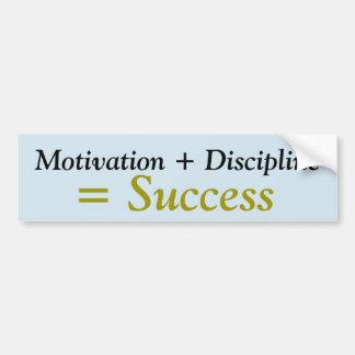 Adesivo Para Carro Motivação + Etiqueta de Disicipline = de sucesso