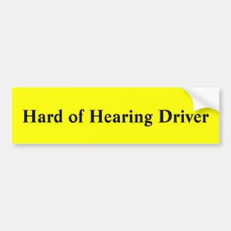 Adesivo Para Carro Motorista com deficiência auditiva