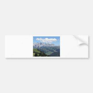 Adesivo Para Carro Mountain View das dolomites italianas no verão