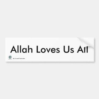 Adesivo Para Carro MPV-Allah ama-nos todos - autocolante no vidro