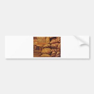 Adesivo Para Carro Muitos pães misturados e fundo dos rolos