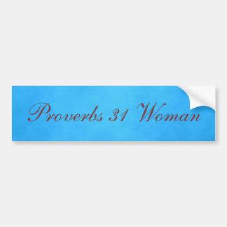 Adesivo Para Carro Mulher azul e cor-de-rosa dos provérbio 31