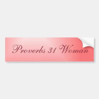 Adesivo Para Carro Mulher cor-de-rosa bonito dos provérbio 31 do