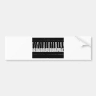 Adesivo Para Carro Música velha do instrumento do teclado de piano de