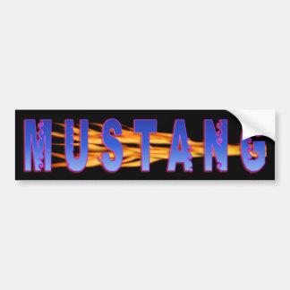 Adesivo Para Carro Mustang azul com matiz cor-de-rosa e chamas