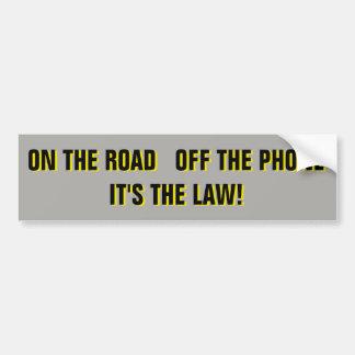 Adesivo Para Carro Na estrada fora do telefone é a lei