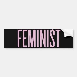 Adesivo Para Carro Nada gosta do feminismo na manhã