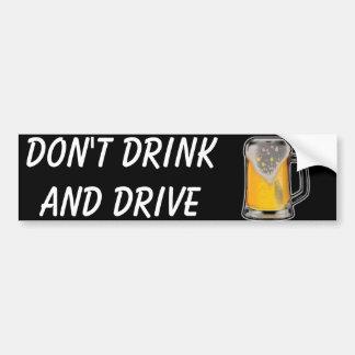 Adesivo Para Carro Não beba e não conduza