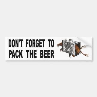 Adesivo Para Carro Não esqueça embalar a cerveja