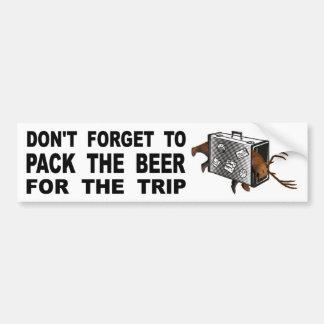 Adesivo Para Carro Não esqueça embalar a cerveja para a viagem