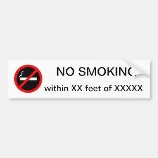 Adesivo Para Carro NÃO FUMADORES dentro do costume