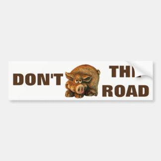 Adesivo Para Carro Não hog o porco bonito Meme da estrada
