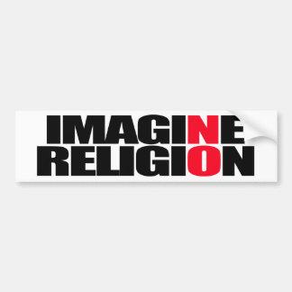 Adesivo Para Carro Não imagine nenhuma religião - autocolante no