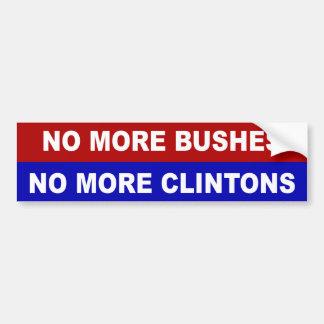 Adesivo Para Carro Não mais arbustos, não mais Clintons