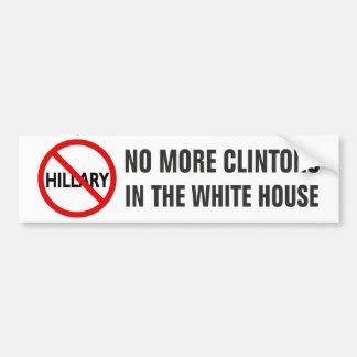 Adesivo Para Carro Não mais Clintons na casa branca