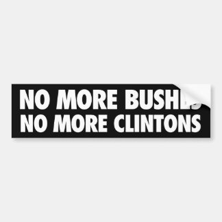 Adesivo Para Carro Não mais cobre não mais Clintons