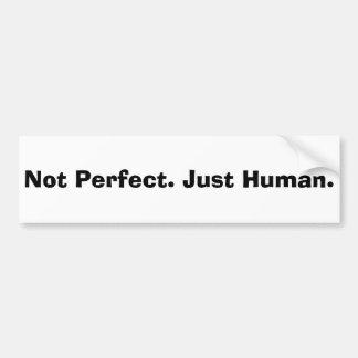 Adesivo Para Carro Nao perfeito; Apenas citações humanas