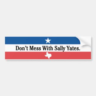 Adesivo Para Carro Não suje com Sally Yates