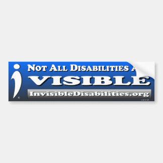 Adesivo Para Carro Não todas as inabilidades são visíveis -