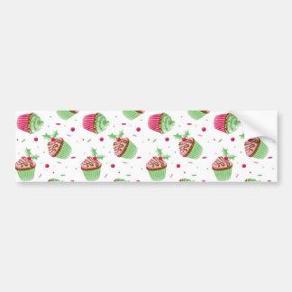 Adesivo Para Carro Natal bonito e doce cupcakes coloridos