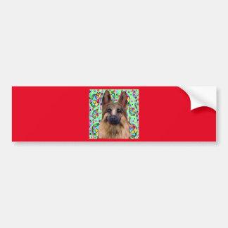 Adesivo Para Carro Natal do german shepherd