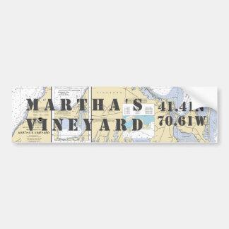 Adesivo Para Carro Navegação da longitude da latitude do Martha's