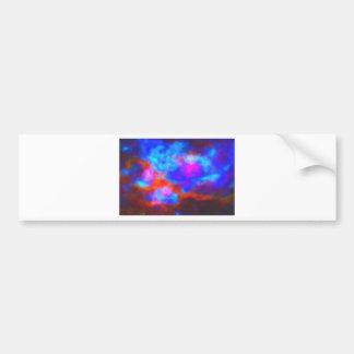 Adesivo Para Carro Nebulosa galáctica abstrata com nuvem cósmica 7a