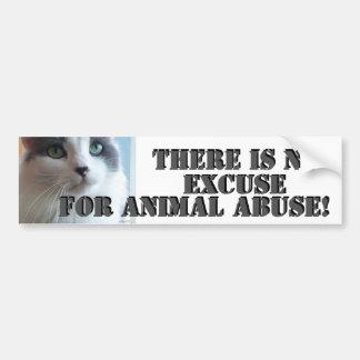 Adesivo Para Carro Nenhum gatinho triste do abuso animal