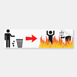 Adesivo Para Carro Nenhuma desordem - queimadura dos Litterers no