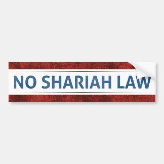 Adesivo Para Carro Nenhuma lei de Shariah