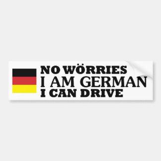 Adesivo Para Carro Nenhuma preocupação que eu sou alemão mim pode